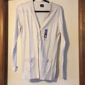 NWT: Faded Glory cream cardigan, M